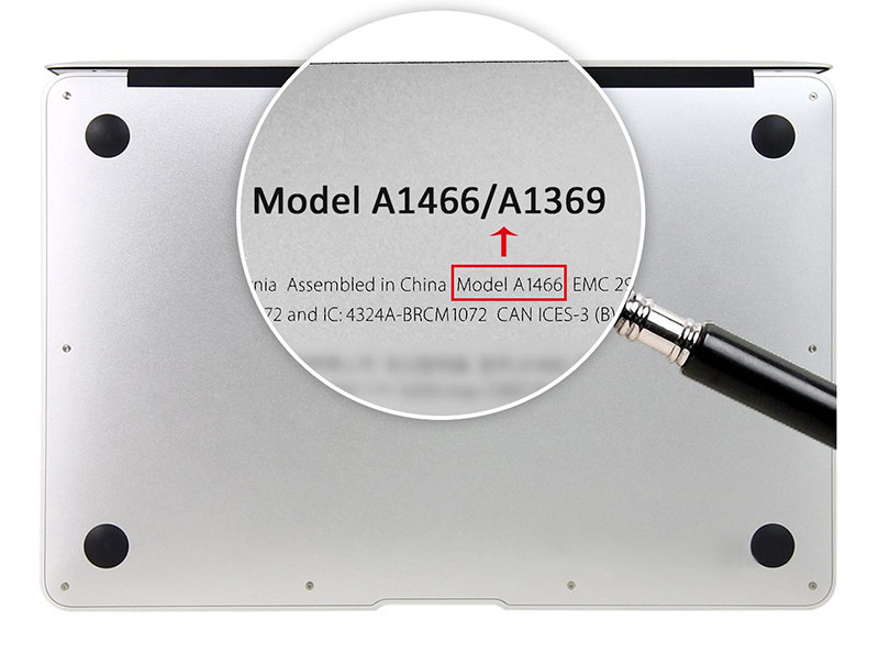Find by Macbook Model Number
